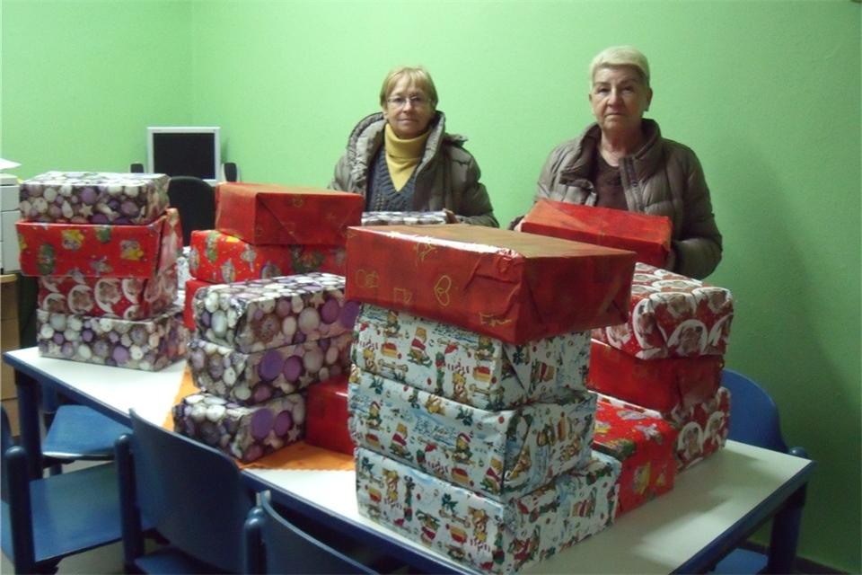 Geschenke für Kinder in der Partnerstadt