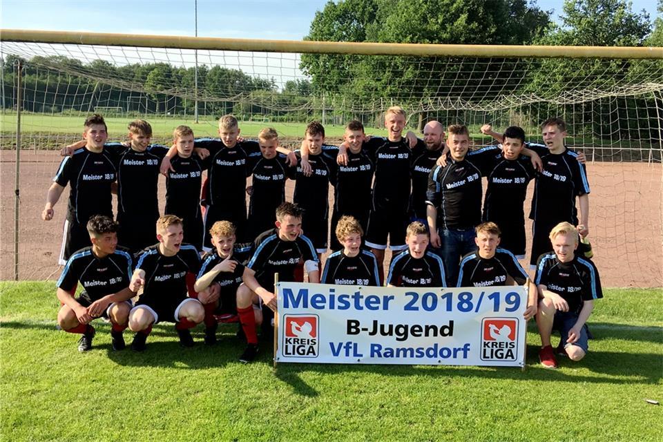 Ramsdorfer B Junioren Feiern Den Vorzeitigen Titel In Der B Liga